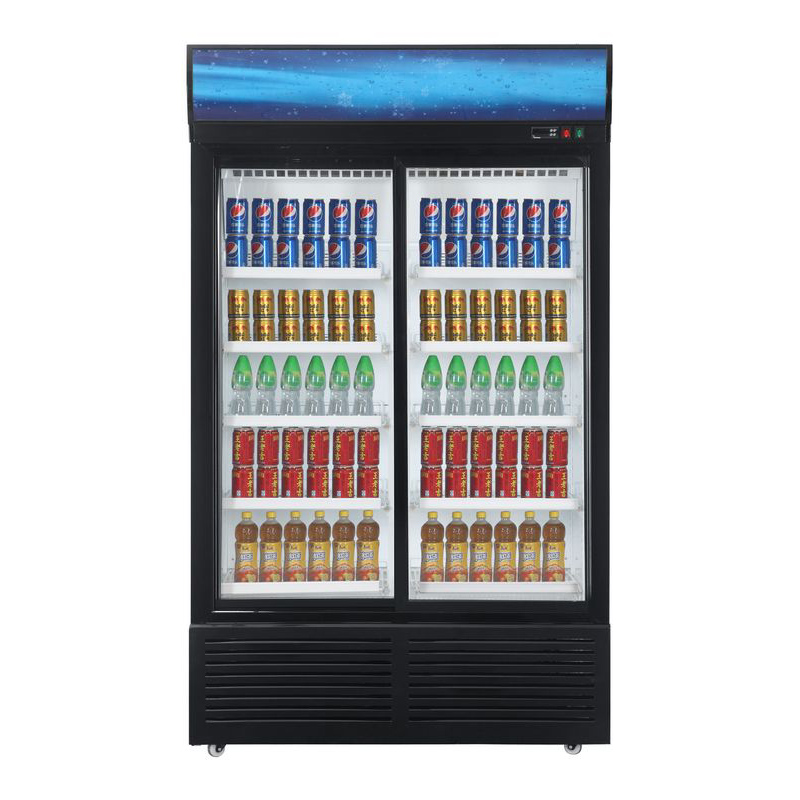 Professionally Supplied Supermarket Upright Cooler for Fruit with High-efficiency Finned Copper Evaporator