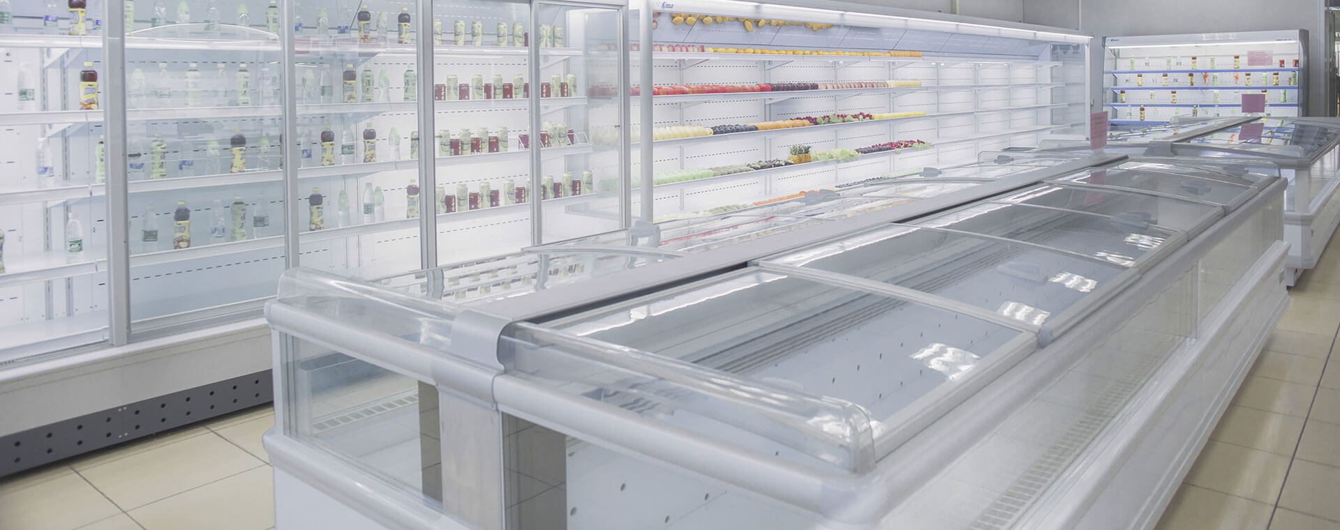 fridge, upright cooler, island freezer, multideck chiller, supermarket refrigerator