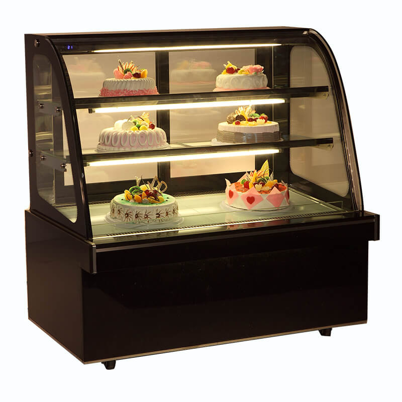 2018 New Cake Display Chiller for Displaying Cakes, Cheese, Dairy Products with Brand-name Compressors